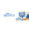 jewish traditional holiday hannukah background vector image