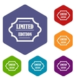 Limited edition icons set vector image vector image
