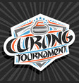 logo for curling tournament vector image