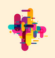 modern abstract composition from rounded shapes vector image