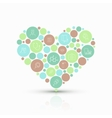 modern concept heart with flat outline vector image vector image