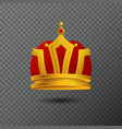 monarchy golden crown icon isolated on vector image