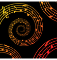 music spiral background vector image vector image