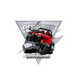 off-road atv buggy logo adventure in the mountains vector image