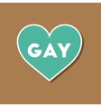 paper sticker on stylish background of gays vector image