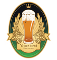 pint label vector image vector image