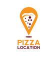pizza location concept design template vector image vector image
