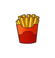 pop art style french fries sticker vector image