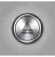 round metal eject button vector image vector image