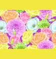 seamless pattern with decorative delicate flowers vector image vector image