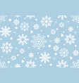 seamless pattern with snowflakes white vector image vector image