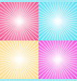 set of four colorful ray backgrounds vector image