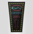 shining retro light banner karaoke vector image vector image