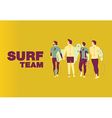 Surf team cover design on center vector image vector image