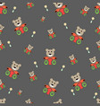 teddy bear seamless pattern bear doll seamless vector image vector image