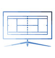 tennis tv translation icon vector image