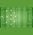 top view of football field with team players t-shi vector image