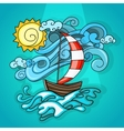 Vacation cartoon style vector image vector image
