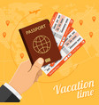 vacation travel and tourism concept vector image vector image