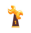 winner golden trophy in form of wrench on vector image vector image