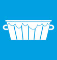 wooden tub icon white vector image vector image
