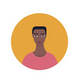 young handsome african american mixed exotic vector image