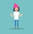 young yelling furious girl with clenched fists vector image