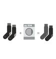 Black socks and a washing machine Shades of gray vector image