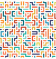 color seamless geometric pattern vector image