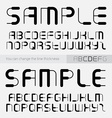 Font made of lines you can change the line vector image