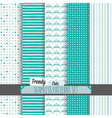 Set of cute white and blue seamless patterns set vector image