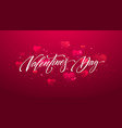 happy valentines day lettering card design vector image