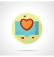 Love stories icon flat round style vector image