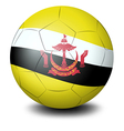 A ball with the flag from the country of Brunei vector image vector image