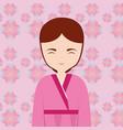 asian woman icon vector image vector image