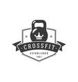 athletic crossfit club logo black power vector image