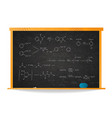 basic chemical reaction equations and formulas on vector image vector image