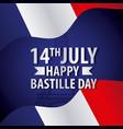 bastille day french celebration vector image