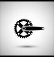bicycle crank set bicycle accessories icon vector image vector image