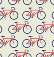 Bicycle seamless background vector image vector image