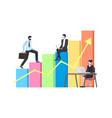 business success and leadership boss walking up vector image vector image