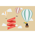 Businessman looking for business in a hot air vector image vector image