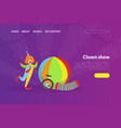 clown show landing page template circus vector image vector image