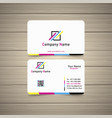cmyk business card vector image vector image