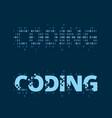 coding wordmark vector image