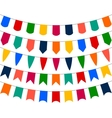 Collection of festive decorative flags holiday vector image vector image
