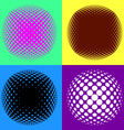 Colorful halftone design elements vector image