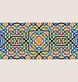 colorful moorish seamless mosaic ornament vector image vector image