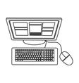 computer topview icon vector image vector image
