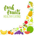 corner frame of fruits vector image